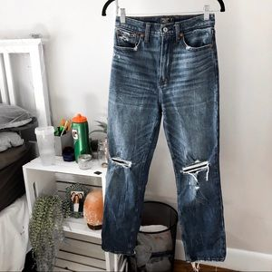 abercrombie ultra high rise straight jeans